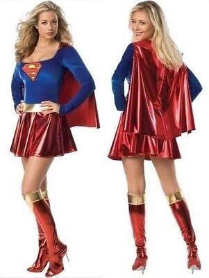 Kostüm Superwoman Größe M (36-38) Kleid Halloween Karneval Damenunterwäsche Sexy ()