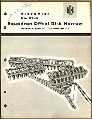 Vintage Ih Mccormick No. 27-b Squadron Offset Disk Harrow Advertising Book