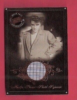 ELVIS PRESLEY WORN PLAID PAJAMAS SWATCH MEMORABILIA KING 2008 ROCK N ROLL RELICS (Elvis Pjs)