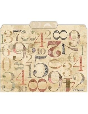 Punch Studio Numerals File Folders Set Of 10