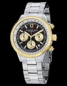 Stührling Monaco 669B Quartz Watch Silver Brand New boxed £65, lovely as gift Krysterna Crystal