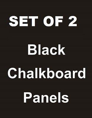 2ea. 24 X 36 Black Chalkboard Replacement Panels Sandwich Board Sidewalk Sign