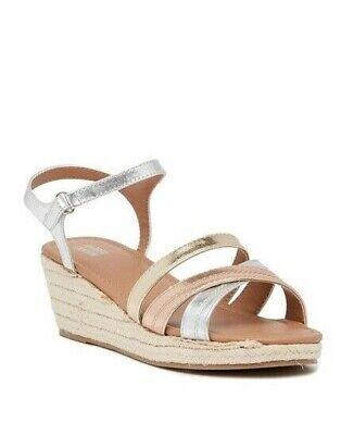 Girls Wedges (Harper Canyon Girls' Elaine Espadrille Wedge Sandal Size 13 Multi Metalic)