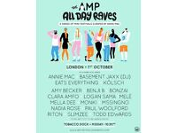 2 x Tickets for Annie Mac Presents...Day Rave in London - Saturday 1st October - £35 each