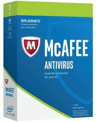 Mcafee Antivirus Plus 2017  1 Pc  2 Year Subscription