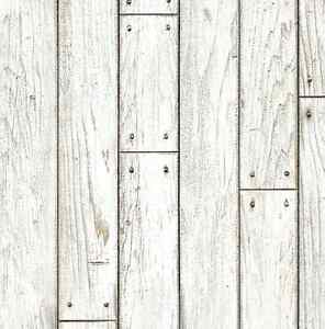 White shabby wood panel deco self adhesive vinyl wallpaper for Wallpaper home hardware