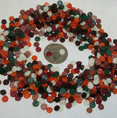 NEW HARVEST Mix BOGO 500+500, 4mm  Tiny Doll Buttons