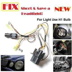 mercedes e320 e430 e500 headlight wire wiring harness