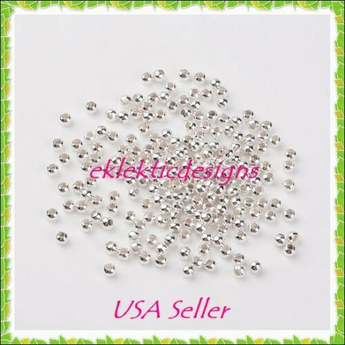 3mm 200pcs Silver Plated Metal Spacer Beads Jewelry Findings Earrings Necklace