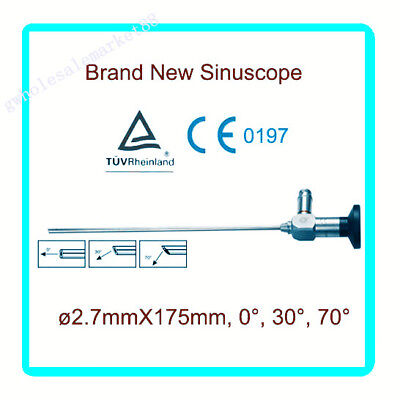Endoscope 2.7x175mm Sinuscope Connector Fit Storz Stryker Olympus Wolf Ent 30