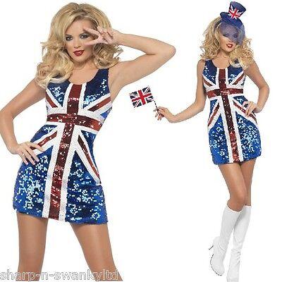 n Union Jack Spice Mädchen Kostüm (Spice Kostüm)