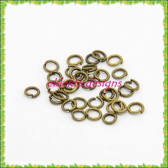 4mm 400pcs Antique Copper Bronze Jump Rings Jewelry Findings Open Split Earrings