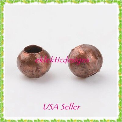 4mm 100 pc Antique Copper Bronze Metal Spacer Beads Jewelry Findings Necklace