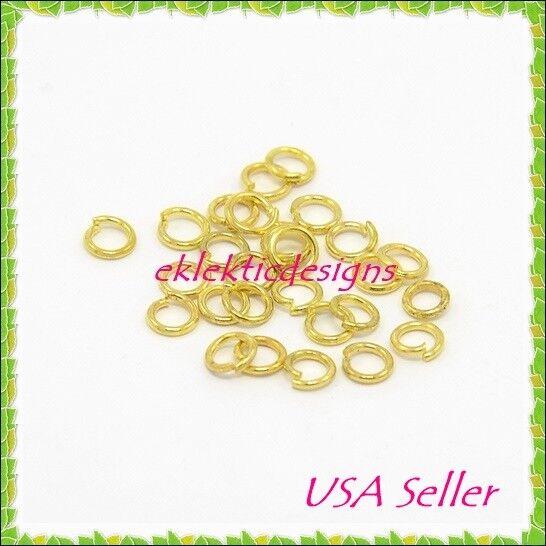 7mm 50pcs 1mm 18 Gauge Stainless Steel Jump Rings Jewelry Findings Open Split
