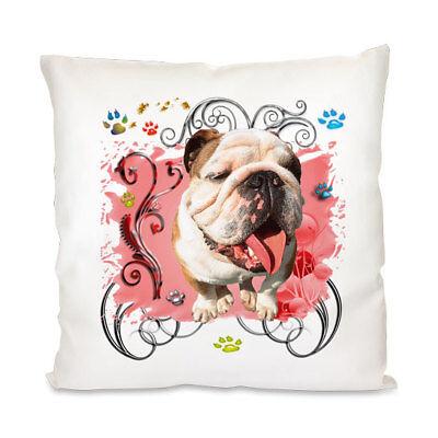 Englische Bulldogge - Kissenbezug -Neu - Kissenhülle -