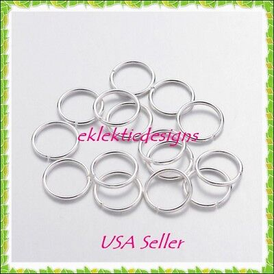 10mm 50pcs Silver Plated Jump Rings Jewelry Findings Open Split Earring Necklace 10 Mm Jump Rings