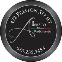 Experience Restaurant Server Needed - Fine Dining
