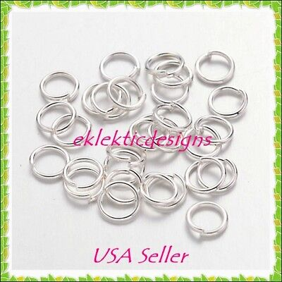4Mm 200Pcs Silver Plated Jump Rings Jewelry Findings Open Split Earring Necklace
