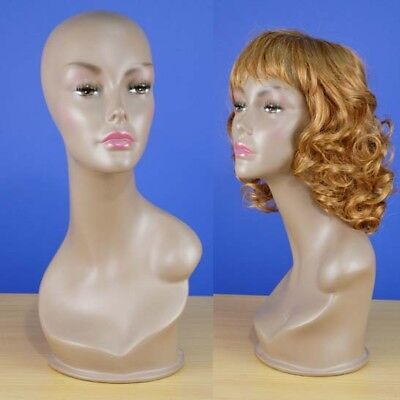 Brand New 19 Brown-black Female Mannequin Head 108b