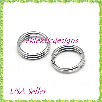 12mm 10pc 1.5mm 304 Stainless Steel Double Split Jump Rings Jewelry Findings
