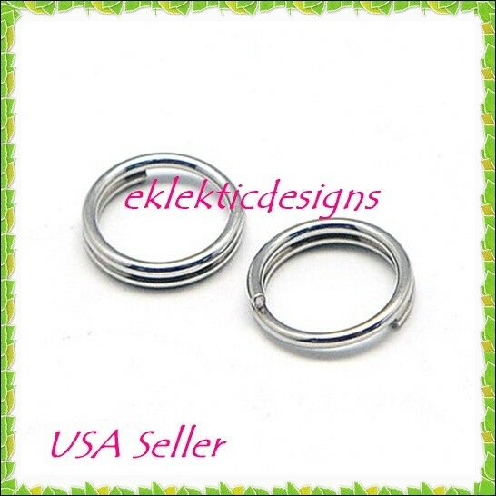 12mm 50pcs 1.2mm 16 Gauge Stainless Steel Jump Rings Jewelry Findings Open Split