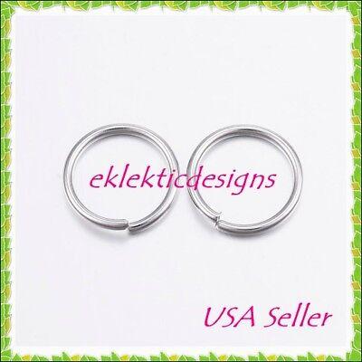 10mm 25pcs 1mm 18ga 304 Stainless Steel Jump Rings Jewelry Findings Open Split