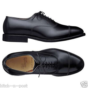 NEW ALLEN EDMONDS PARK AVENUE CAP-TOE BAL OXFORDS BLACK 13 D MEDIUM $345