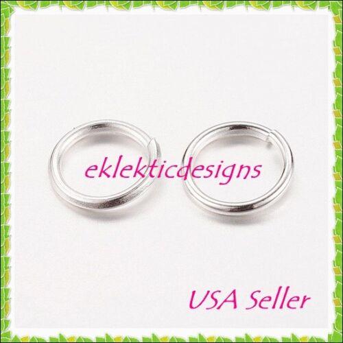 6mm 100pc Silver Plated Jump Rings Jewelry Findings Open Split Earring Necklace