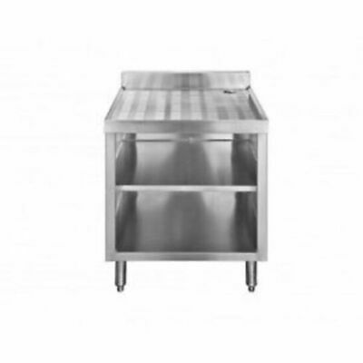 2 Rack Stainless Steel Glass Rack Storage Cabinet