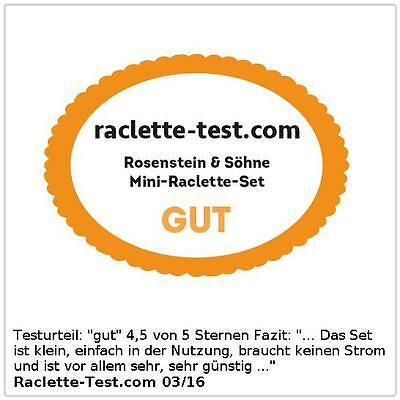 Rosenstein & Söhne Faltbares Teelicht-Raclette für 2 Personen