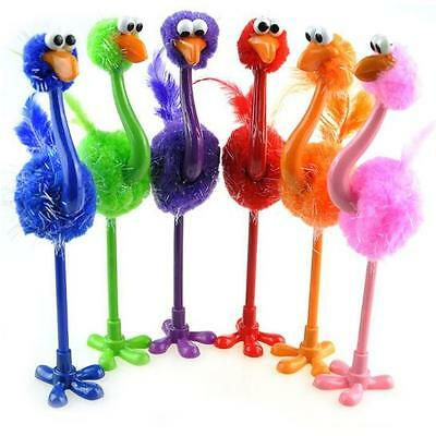 Ostrich Ballpoint Pen 2 Pcs Student Stationery Random Color Creative Cartoon