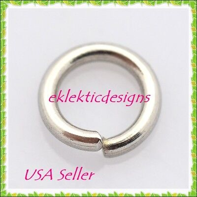 8mm 50pc 1mm 18 Gauge 304 Stainless Steel Jump Rings Jewelry Findings Open Split ()