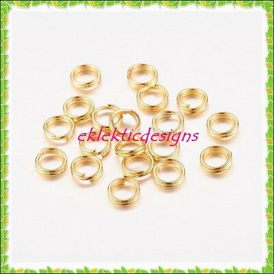 Gold Plated Jewelry Findings - 5mm 100pcs Gold Plated Split Dbl Jump Rings Jewelry Findings Earrings Necklace