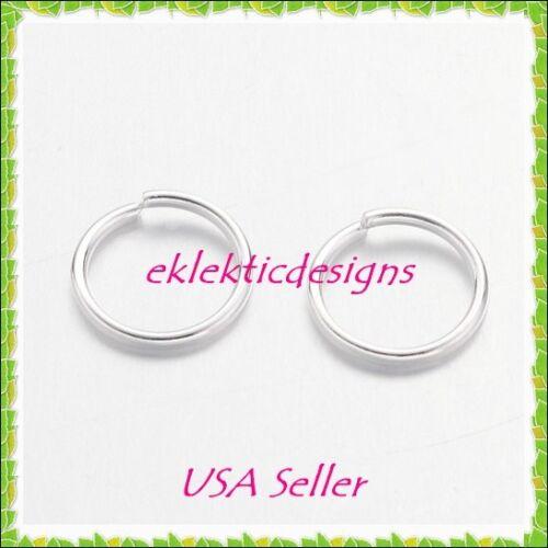 8mm 50pcs Silver Plated Jump Rings Jewelry Findings Open Split Earring Necklace