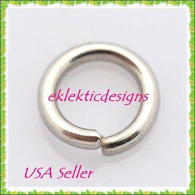 6mm 50pcs 1mm 18Gauge 304 Stainless Steel Jump Rings Jewelry Findings Open Split