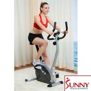 NEW* SHF MAGNETIC UPRIGHT BIKE SUNNY HEALTH  FITNESS EXERCISE EQUIPMENT WORKOUT CARDIO BIKES CYCLE CYCLES 107606724