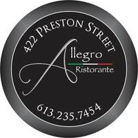 Chef/Sous Chef for an Italian Restaurant