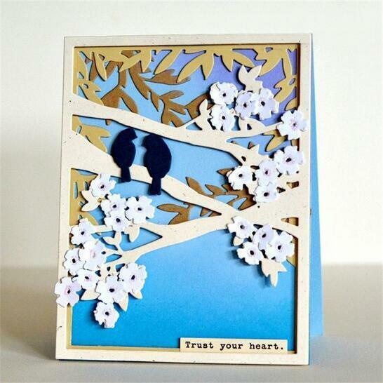 Branch Bird Cutting Dies Stencil DIY Scrapbooking Paper Card Embossing Crafts