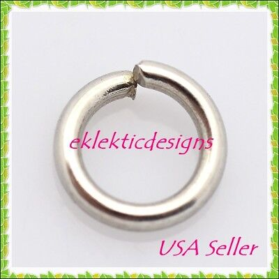 10pcs 10mm 2mm/12 gauge 304 Surgical Stainless Steel Open Jump Rings Findings 10 Mm Jump Rings