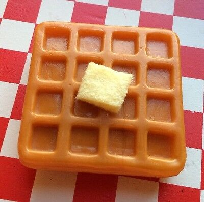 Realistic Artificial Faux Fake Play Food Breakfast Butter WAFFLE 3D MAGNET