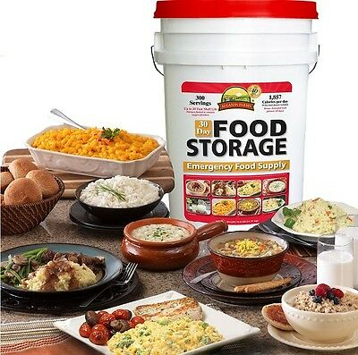 Food Kit - Survival Kit Emergency Food Storage Disaster Hurricane Earthquake 300 Camp Meal