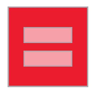 Red Equal Sign Lapel Pin   Facebook Sign Lapel Pin