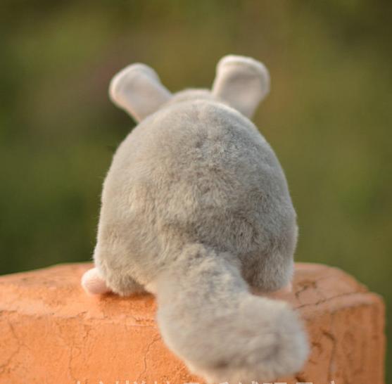 Mouse Animal Plush Toy Emulational Chinchilla Lanigera Stuffed Doll Gift 24cm