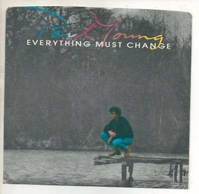 Everything 45 Rpm Records - PAUL YOUNG 45 RPM Promo Record w/ Pic Sleeve EVERYTHING MUST CHANGE 1985 MINT!