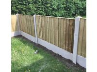 Heavy Duty * High Quality Tanalised Wooden Straight Top Feather Edge Fence Panels