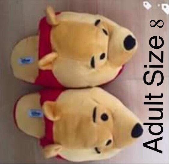 6ce8c7f279b4 Winnie the Pooh adult size 8 slippers