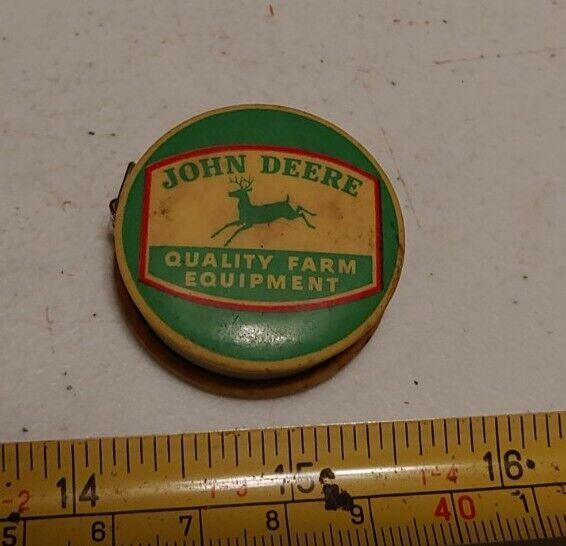 Vtg John Deere Farm Equipment Steel Plow Advertising Celluloid Measuring Tape