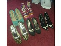 5 Pairs Of Heels Great Condition