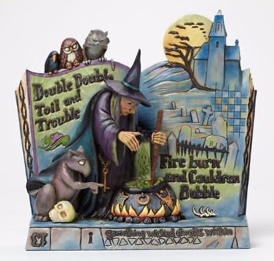 Jim Shore Heartwood Creek Curses Witch Spell Book Halloween Figurine 4047839 - Jim Shore Halloween Figurines