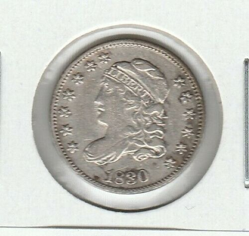 1830 LM-8 R-1 Capped Bust Very Fine VF Silver US Half Dime H10C